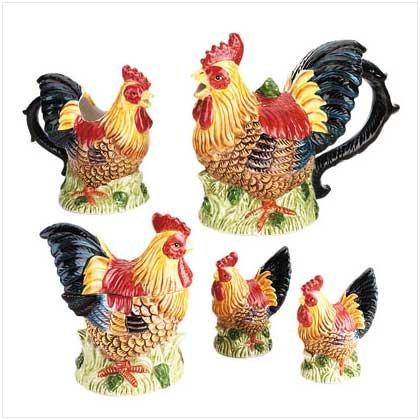 Rooster Tea Set