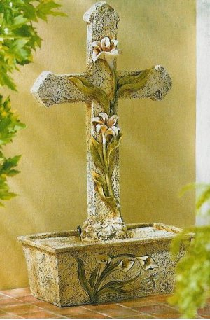 Cross & Lily Fountain