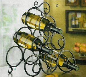 Scrollwork Wine Rack