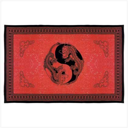 Ying Yang Dragon Print Sheet