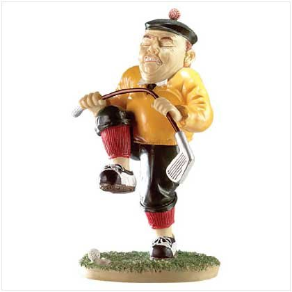 Frusterated Golfer Sculpture
