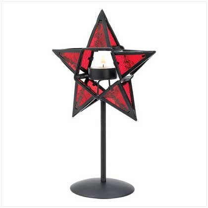 Ruby Star Candleholder