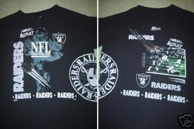 OAKLAND RAIDERS aerial assault YOUTH size 14-16 T-SHIRT