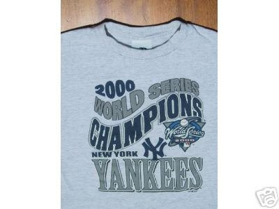 NY YANKEES 2000 World Series Champs YOUTH M(8) T-SHIRT