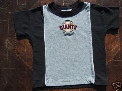 San Francisco GIANTS embroidered logo TODDLER 4T T-SHIRT