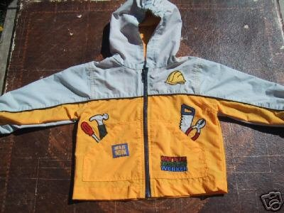 cute CONSTRUCTION WORKER toddler size 12 months JACKET