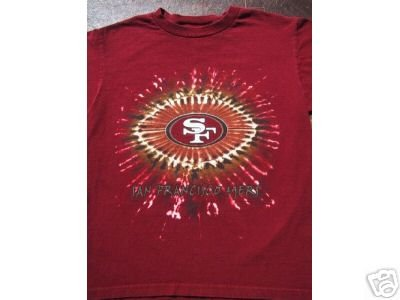 S.F. 49ERS sunburst YOUTH 10-12 T-SHIRT forty niners