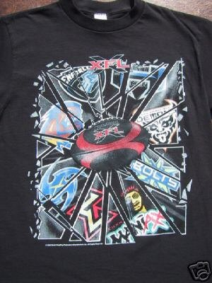 rare defunct XFL football league YOUTH 6-8 T-SHIRT