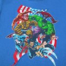 MARVEL COMICS superheros YOUTH 12-14 T-SHIRT hulk THING