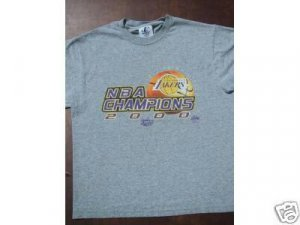 L.A. LAKERS 2000 nba champions YOUTH L (14-16) T-SHIRT