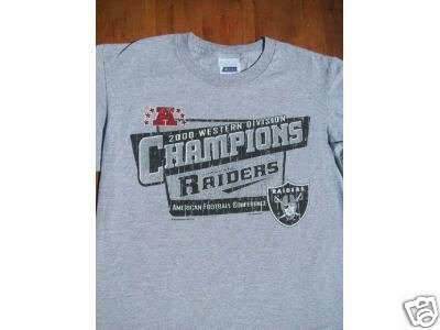 OAKLAND RAIDERS 2000 WD CHAMPIONS youth 14-16 T-SHIRT