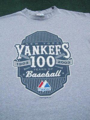 NEW YORK YANKEES 100 years of baseball YOUTH XL(12) T-SHIRT
