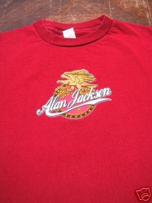ALAN JACKSON eagle logo YOUTH size L(12-14) T-SHIRT