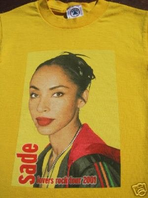 SADE lovers rock tour 2001 youth size S(6-8) T-SHIRT