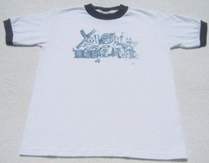 YELLOWCARD punk YOUTH size M(7-8) ringer T-SHIRT
