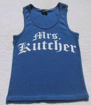MRS. KUTCHER girl's S(6-7) TANK TOP T-SHIRT ashton