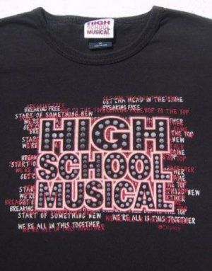 HIGH SCHOOL MUSICAL disney GIRL'S M(7-8) TOP TEE SHIRT
