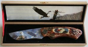 New!  Rocky Mountain Eagle Knife with display box