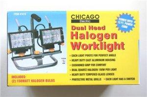 New! Dual Head Halogen Worklight