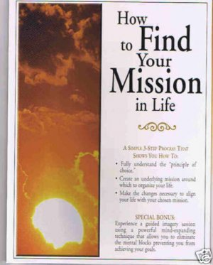 New! - How to Find Your Mission in Life (Audio CD)