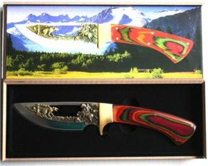 New! - Trail's End Wild West Collectable Knife w/case