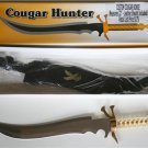 "New!  22"" Custom Cougar Bowie Knife with leather sheath"