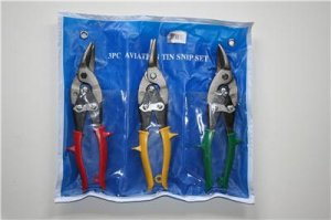 Professional HEAVY DUTY 3 Piece Aviation Tin Snip Set