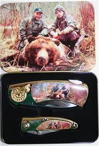 (2) Bear Hunter's Folding Knives With Display Box