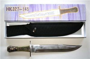 New! - Early Americana Bowie Knife With Sheath