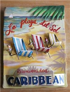 New! -  Tropical Caribbean Small Tin Sign