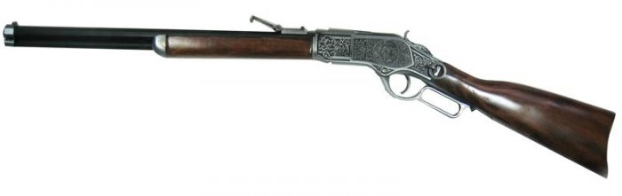 New! - Winchester Rifle Replica With Display Hooks