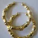 Jumbo Bamboo Earrings (Gold)