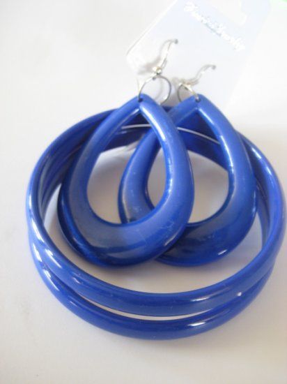 Blue Bangles & Earring Set