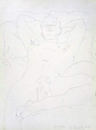 Reclining Male Nude, by Michael Kelly