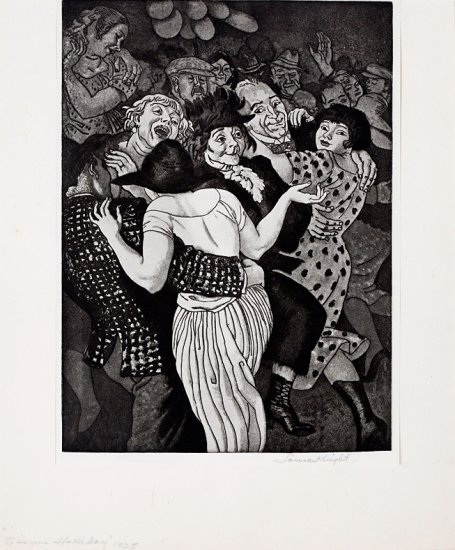 Circus Holliday, from the series Circus Prints, by Dame Laura Knight (British 1877-1970)