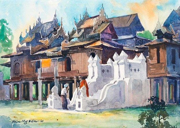 Burmese Monastery, by Khinmgwin (Burmese)