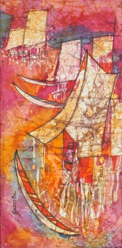 Untitled [Batik fabric], by unknown artist