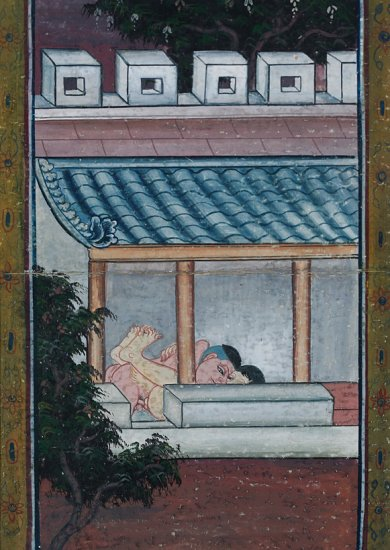 Thai scripture painting, by unknown artist