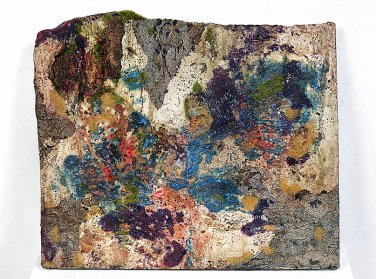 Untitled (Purple and Blue Slab) by Lina Puerta