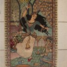Omar Khayyam Dancing women Tabriz Persian Carpet hand made Rug