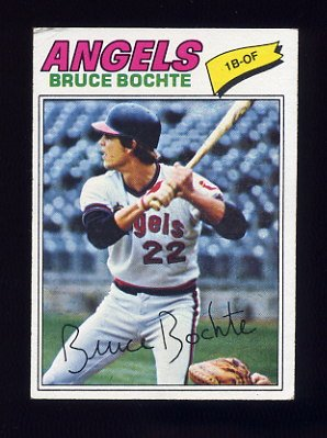 1977 Topps Baseball #068 Bruce Bochte - California Angels