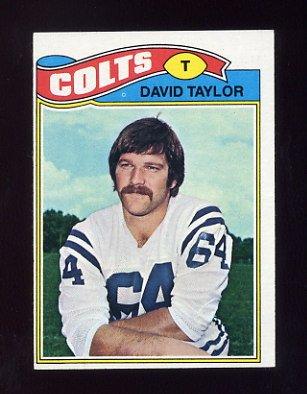 1977 Topps Football #524 David Taylor - Baltimore Colts