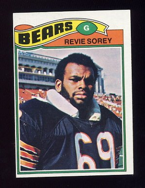 1977 Topps Football #296 Revie Sorey RC - Chicago Bears