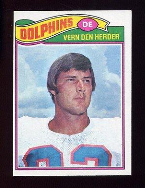 1977 Topps Football #233 Vern Den Herder - Miami Dolphins