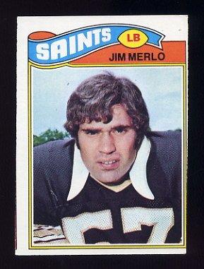 1977 Topps Football #158 Jim Merlo - New Orleans Saints