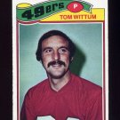 1977 Topps Football #127 Tom Wittum - San Francisco 49ers VgEx