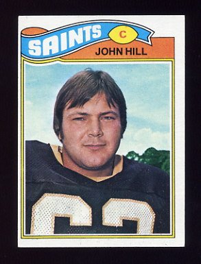 1977 Topps Football #117 John Hill - New Orleans Saints
