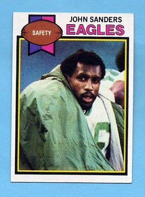 1979 Topps Football #054 John Sanders - Philadelphia Eagles