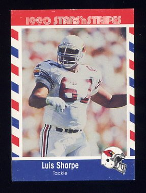 1990 Fleer Stars and Stripes Football #66 Luis Sharpe - Phoenix Cardinals
