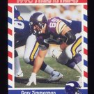 1990 Fleer Stars and Stripes Football #65 Gary Zimmerman - Minnesota Vikings
